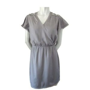 Banana Republic Rhinestone Shoulder Dress Small P